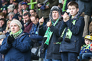 FGR fans during the Vanarama National League match between Forest Green Rovers and Woking at the New Lawn, Forest Green, United Kingdom on 25 February 2017. Photo by Shane Healey.