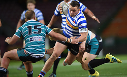Cape Town-180921- Wastern Province Daniel Kriel tackled by Adrian Coetzen  of Tafel lager Griquas in the Currie Cup Game played at Newlands Stadium .Photographs:Phando Jikelo/African News Agency/ANA