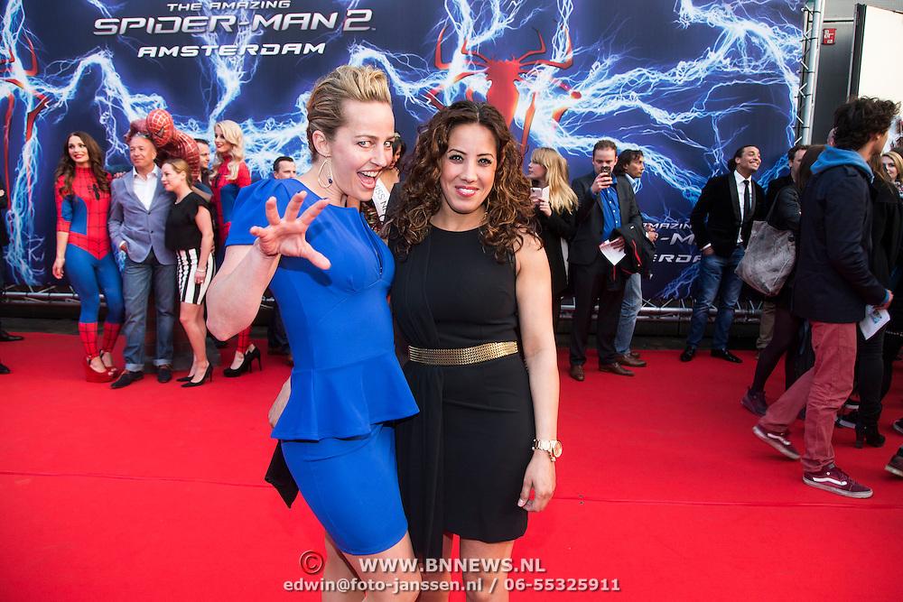 NLD/Amsterdam/20140422 - Premiere The Amazing Spiderman 2, Esther Schouten en Aicha Marchadi
