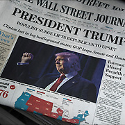 The Wall Street Journal headline day after Election Day, &quot;President Trump Populist Surge Lifts Republican to Upset. Clinton lost in key battleground states: GOP keep Senate and House.&quot;<br /> <br /> Surprised outcome, had shown a fairly competitive race with critical weaknesses for Clinton in the Electoral College. Clinton will eventually win the popular vote as more votes come in from California.