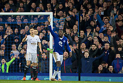 LIVERPOOL, ENGLAND - Sunday, January 24, 2016: Everton's Romelu Lukaku in action against Swansea City during the Premier League match at Goodison Park. (Pic by David Rawcliffe/Propaganda)