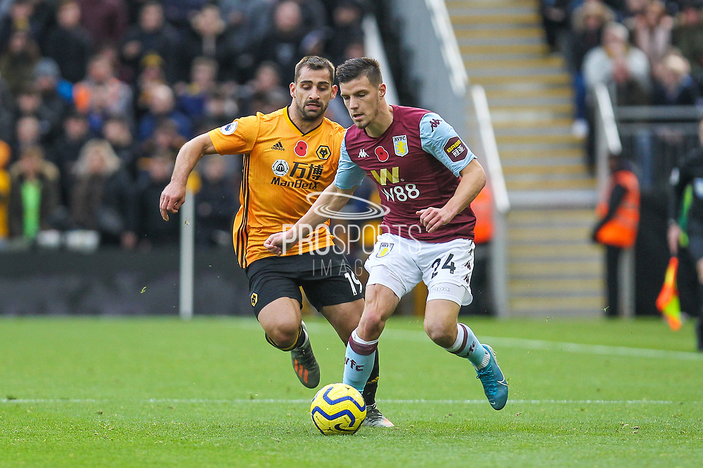 Frederic Guilbert of Aston Villa during the Premier League match between Wolverhampton Wanderers and Aston Villa at Molineux, Wolverhampton, England on 10 November 2019.
