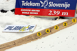 World record 239m table at Flying Hill Team in 3rd day of 32nd World Cup Competition of FIS World Cup Ski Jumping Final in Planica, Slovenia, on March 21, 2009. (Photo by Vid Ponikvar / Sportida)