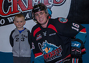 KELOWNA, CANADA - OCTOBER 22:  Home Hardware Stick Boy with Kole Lind #16 of the Kelowna Rockets at the Kelowna Rockets game on October 22, 2017 at Prospera Place in Kelowna, British Columbia, Canada.  (Photo By Cindy Rogers/Nyasa Photography,  *** Local Caption ***