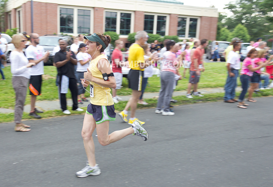 Middletown, New York - Runners compete in the 16th annual Ruthie Dino-Marshall 5K Run/Walk put on by the Middletown YMCA on Sunday, June 10, 2012.