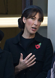 © London News Pictures. 11/11/2012. London, UK. Samantha Cameron, wife of British Prime Minister David Cameron look on during the Remembrance Day Ceremony at the Cenotaph on November 13, 2011 in London, United Kingdom. Politicians and Royalty joined the rest of the county in honouring the war dead by gathering at the iconic memorial to lay wreaths and observe two minutes silence. Photo Credit: Ben Cawthra/LNP