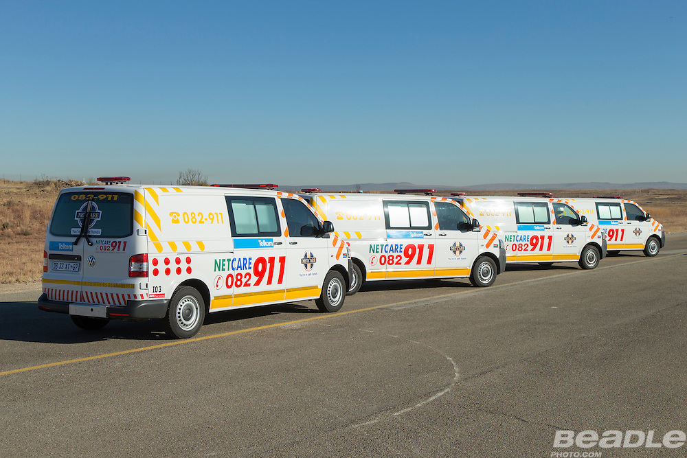 Netcare911 fleet vehicles supplied by Volkswagen South Africa. Images by Greg Beadle