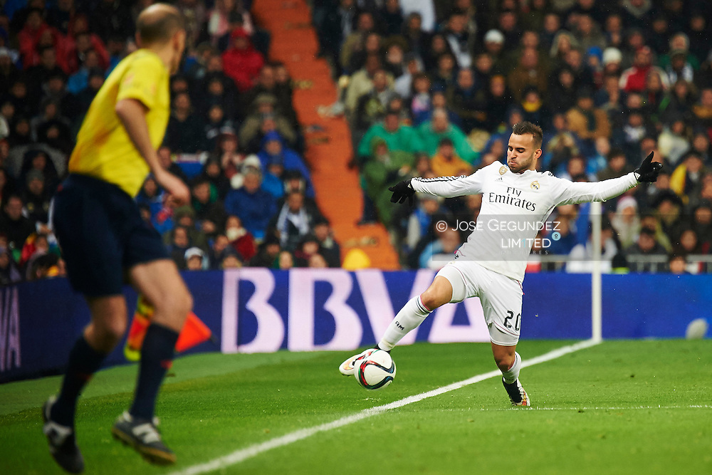 Jese during the Copa del Rey, round of 8 match between Real Madrid and Atletico de Madrid at Estadio Santiago Bernabeu on January 15, 2015 in Madrid, Spain.