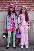 Halloween girls in costume, NYC. Photography by Debbie Zimelman, Modiin, Israel