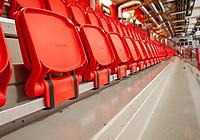 2020-03-11   Tyringe, Sverige: Läktarna kommer stå tomma under matcherna i landets ishockeyhallar pga Covid-19 virusets framfart i Sverige.( Foto av: Henrik Eberlund   Swe Press Photo )<br /> <br /> Nyckelord: Ishockey, Hockeyettan, Tomma läktare, Covid-19