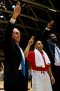 GARLAND, TX - NOVEMBER 11: SMU Mustangs head coach Larry Brown looks on against the Rhode Island Rams on November 11, 2013 at the Curtis Culwell Center in Garland, Texas.  (Photo by Cooper Neill/Getty Images) *** Local Caption *** Larry Brown