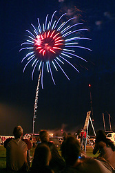 Fireworks lit up the sky over Blakeslee Stadium where people gathered this 4th of July in Mankato.