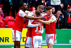 Rotherham United players celebrate going in front - Mandatory by-line: Ryan Crockett/JMP - 02/03/2019 - FOOTBALL - Aesseal New York Stadium - Rotherham, England - Rotherham United v Blackburn - Sky Bet Championship