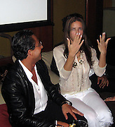 **EXCLUSIVE**.Brazilian Super Model Adriana Lima, Showing how she has no engagement or wedding ring in her finger, meaning she is available to Brazilian Super Model Letícia Birkheuer's ex- boyfriend, Max, who in 1999 owned Floats Nightclub..PM Lounge owner Unik's Karaoke Sunday Night .New York, NY, USA .Sunday, May, 06, 2007.Photo By Celebrityvibe.To license this image call (212) 410 5354 or;.Email: celebrityvibe@gmail.com; .