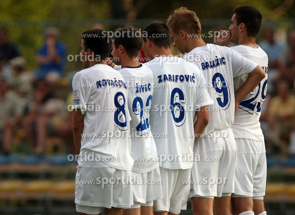 Players of Gorica  at 2nd Round of PrvaLiga Telekom Slovenije between NK Koper vs NK Hit Gorica, on July 26, 2008, in SRC Bonifika stadium in Koper. Gorica won the mach 3:1. (Photo by Vid Ponikvar / Sportal Images)