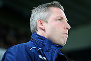 Millwall manager Neil Harris during the EFL Sky Bet Championship match between Derby County and Millwall at the Pride Park, Derby, England on 20 February 2019.