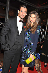 DAVID GANDY and SARAH ANN MACKLIN at the Battersea Dogs & Cats Home Collars & Coats Gala Ball held at Battersea Evolution, Battersea Park, London SW8 on 8th November 2012.