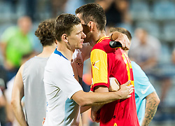 Roman Bezjak of Slovenia and Asmir Kajevic of Montenegro after the friendly football match between National Teams of Montenegro and Slovenia, on June 2, 2018 in Stadium Pod goricom, Podgorica, Montenegro. Photo by Vid Ponikvar / Sportida
