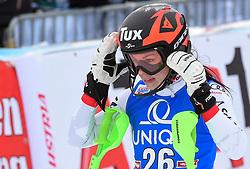 28.12.2017, Hochstein, Lienz, AUT, FIS Weltcup Ski Alpin, Lienz, Slalom, Damen, 2. Lauf, im Bild Stephanie Brunner (AUT) // Stephanie Brunner of Austria reacts after her 2nd run of ladie's Slalom of FIS ski alpine world cup at the Hochstein in Lienz, Austria on 2017/12/28. EXPA Pictures © 2017, PhotoCredit: EXPA/ Erich Spiess