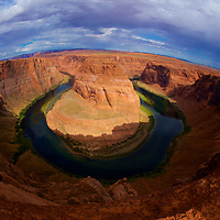 Where the mighty Colorado river takes a scenic bend in the aptly named horseshoe on it's way into the Grand Canyon.