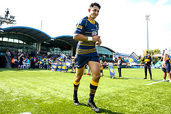 Bryce Heem of Worcester Warriors walks out to make his 50th appearance for Worcester Warriors - Mandatory by-line: Robbie Stephenson/JMP - 01/09/2018 - RUGBY - Sixways Stadium - Worcester, England - Worcester Warriors v Wasps - Gallagher Premiership