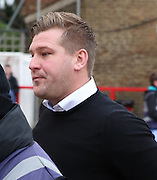 Milton Keynes Dons manager Karl Robinson arriving for Milton Keynes Dons verses Brentford during the Sky Bet Championship match between Brentford and Milton Keynes Dons at Griffin Park, London, England on 5 December 2015. Photo by Matthew Redman.