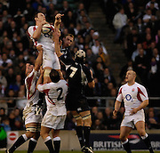 Twickenham, GREAT BRITAIN,Louis DEACON, collect the line out ball, during the  England vs Scotland, Calcutta Cup Rugby match played at the  RFU Twickenham Stadium on Sat 03.02.2007  [Photo, Peter Spurrier/Intersport-images]....