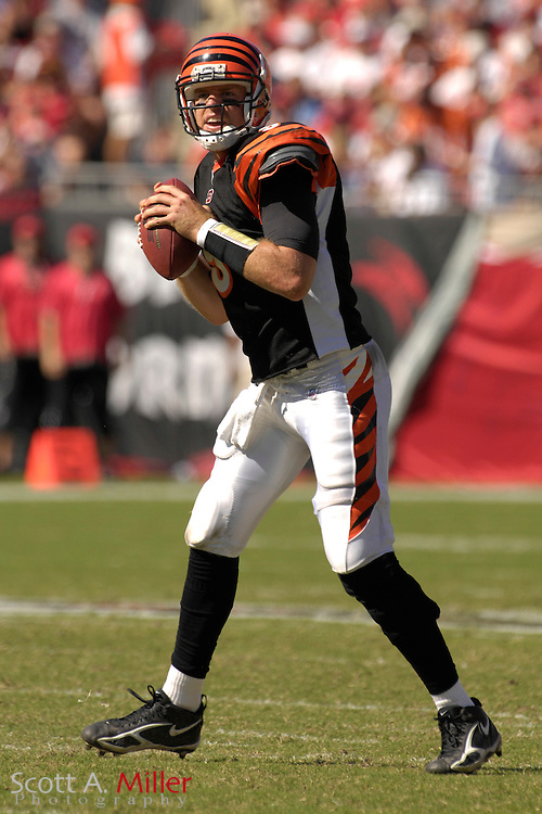 Oct. 15, 2006; Tampa, FL, USA; Cincinnati Bengals quarterback (9) Carson Palmer in action during the second half of the Bengals 14-13 loss to the Tampa Bay Buccaneers at Raymond James Stadium. ...©2006 Scott A. Miller