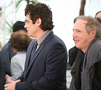 Actor Benicio Del Toro and Director Arnaud Desplechin at the Jimmy P. Psychotherapy of a Plains Indian film photocall at the Cannes Film Festival 18th May 2013
