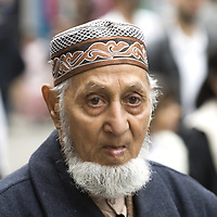 Muslim old man with beard