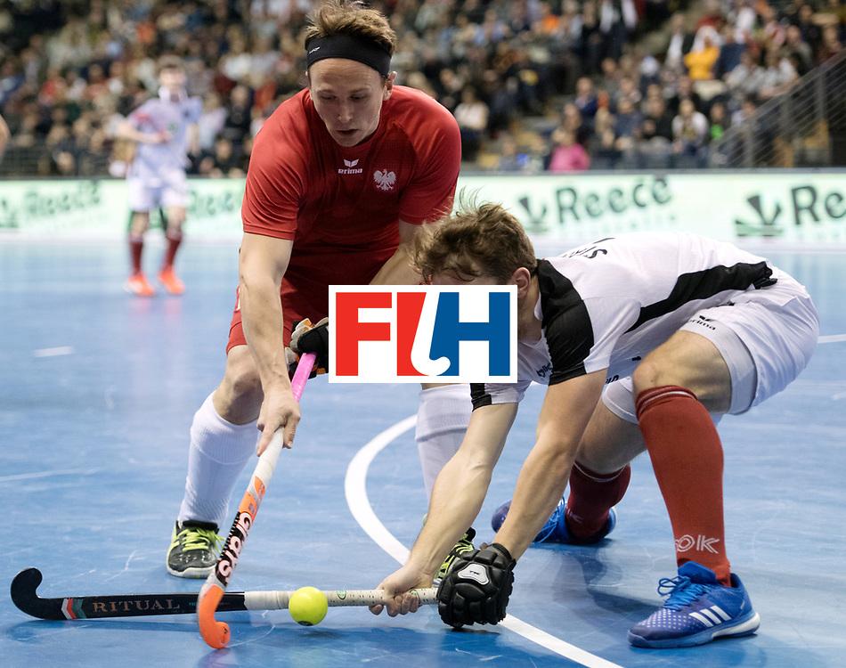 BERLIN - Indoor Hockey World Cup<br /> Quarterfinal 2: Austria - Poland<br /> foto: Philipp Weide and Patrick Stanzl <br /> WORLDSPORTPICS COPYRIGHT FRANK UIJLENBROEK