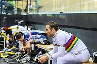 Francois Pervis - 27.01.2015 -Entrainement Equipe de France de cyclisme sur piste - Saint Quentin en Yvelines <br /> Photo : Anthony Dibon / Icon Sport