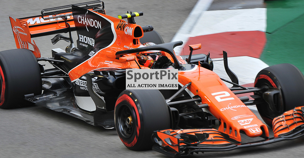 Stoffel Vandoorne, McLaren Honda Formula 1 Team.<br /> Day 2 of the 2017 Formula 1 Singapore Airlines, Singapore Grand Prix held at The Marina Bay street circuit, Singapore on the 15th September 2017.<br /> Wayne Neal | SportPix.org.uk