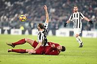 23.12.2017 - Torino  Serie A 18a   giornata  -  Juventus-Roma  nella  foto: Edin Dzeko in lotta con Giorgio Chiellini