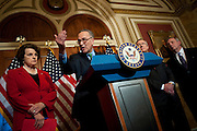 Apr 29,2010 - Washington, District of Columbia USA - .Senators Harry Reid, Dick Durbin, Chuck Schumer, Dianne Feinstein and Robert Menendez speak to the press about immigration reform at the Capitol on Thursday.(Credit Image: © Pete Marovich Images)