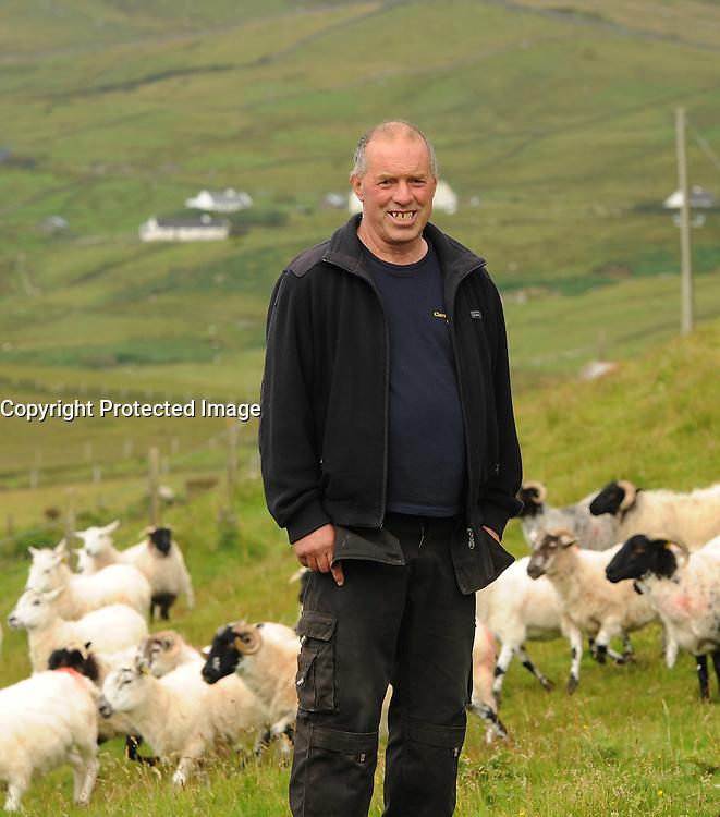 Joe O'Malley Clare Island farmer, <br /> Pic Conor McKeown