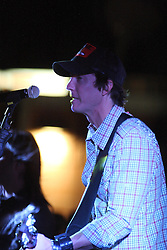 11 July 2012:  Brett Gillan of Brushfire Band perform a concert on the concourse of the Corn Crib Stadium at Heartland Community College in Normal IL