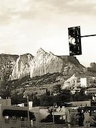 Monochrome image of downtown Sedona
