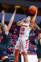 NORMAL, IL - November 05:  Lexi Wallen defended by Katie Jaseckas during a college women's basketball game between the ISU Redbirds and the Truman State Bulldogs on November 05 2019 at Redbird Arena in Normal, IL. (Photo by Alan Look)