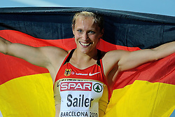 29.07.2010, Olympic Stadium, Barcelona, ESP, European Athletics Championships Barcelona 2010, im Bild Verena Sailer GER wins the 100 meter . GER EXPA Pictures © 2010, PhotoCredit: EXPA/ nph/ . Ronald Hoogendoorn+++++ ATTENTION - OUT OF GER +++++ / SPORTIDA PHOTO AGENCY