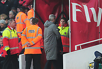 Football - 2016 / 2017 Premier League - Arsenal vs. Burnley<br /> <br /> Arsenal Manager Arsene Wenger is sent to the stands by Referee Jon Moss after also arguing with the 4th official at The Emirates.<br /> <br /> COLORSPORT/ANDREW COWIE