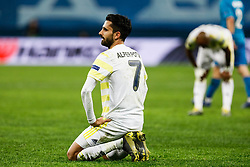 February 21, 2019 - Saint Petersburg, Russia - Alper Potuk of Fenerbahce SK reacts during the UEFA Europa League Round of 32 second leg match between FC Zenit Saint Petersburg and Fenerbahce SK on February 21, 2019 at Saint Petersburg Stadium in Saint Petersburg, Russia. (Credit Image: © Mike Kireev/NurPhoto via ZUMA Press)
