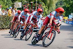 Stage 2 TTT from Bruxellles to Brussel of the 106th Tour de France, 7 July 2019. Photo by Thomas van Bracht / PelotonPhotos.com | All photos usage must carry mandatory copyright credit (Peloton Photos | Thomas van Bracht)