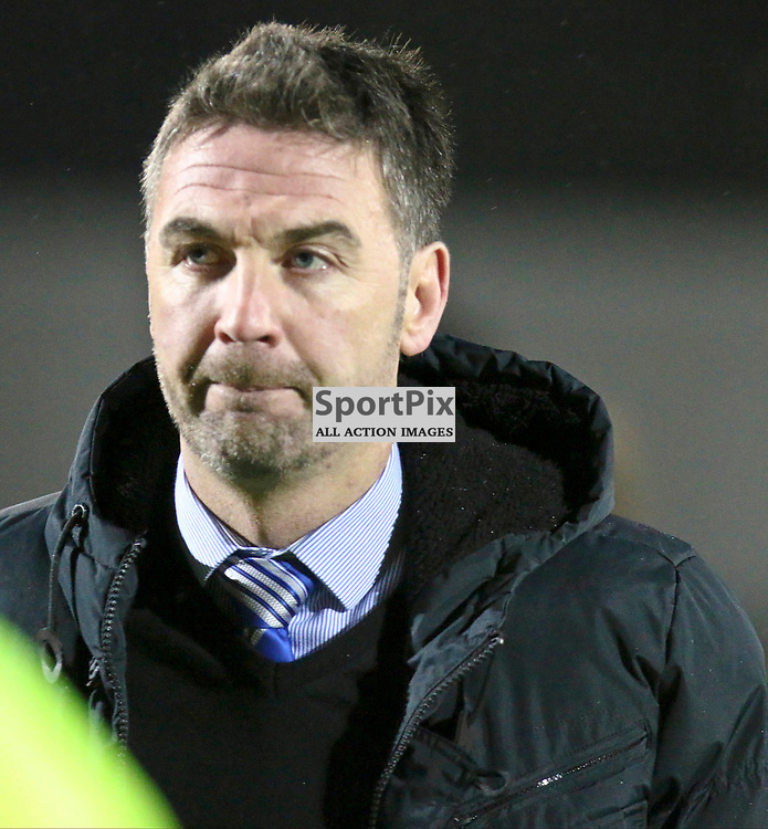 Stevie Farrell doesn't look happy about losing during the Dumbarton v Stranraer Irn Bru Cup round three 06 October 2017<br /> <br /> <br /> <br /> <br /> <br /> (c) Andy Scott | SportPix.org.uk