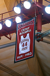 29 January 2017:  Cathy Boswell banner during an College Missouri Valley Conference Women's Basketball game between Illinois State University Redbirds the Salukis of Southern Illinois at Redbird Arena in Normal Illinois.