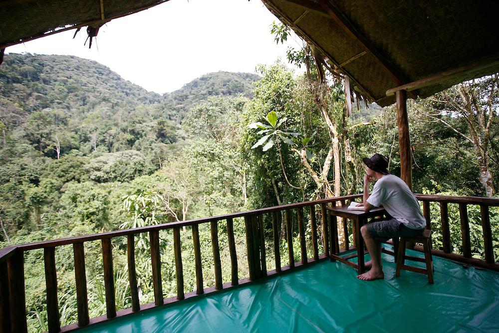 Tourist accomodation at Bwindi Impenetrable forest national park.Uganda. Africa. .Picture by Zute Lightfoot. .www.lightfootphoto.co.uk zutelightfoot@yahoo.co.uk.