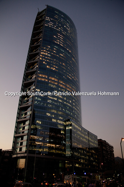 Infinity tower on &quot;Las Condes&quot; Neighborhood, center of business and modern Santiago.<br />
