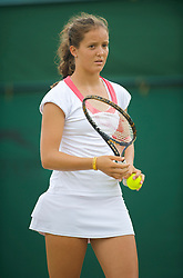 LONDON, ENGLAND - Friday, June 26, 2009: Laura Robson (GBR) during the Ladies' Doubles 2nd Round match on day five of the Wimbledon Lawn Tennis Championships at the All England Lawn Tennis and Croquet Club. (Pic by David Rawcliffe/Propaganda)