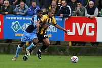 Photo: Pete Lorence.<br />Boston United v Wycombe Wanderers. Coca Cola League 2. 28/10/2006.<br />Wycombe's Chris Palmer and Francis Green battle for the ball.