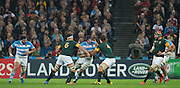 London, Great Britain,  Tomas LAVANINI, running with the ball, during the South Africa vs Argentina. 2015 Rugby World Cup, Bronze Medal Match.Queen Elizabeth Olympic Park. Stadium, Stratford. East London. England,, Friday  30/10/2015. <br /> [Mandatory Credit; Peter Spurrier/Intersport-images]